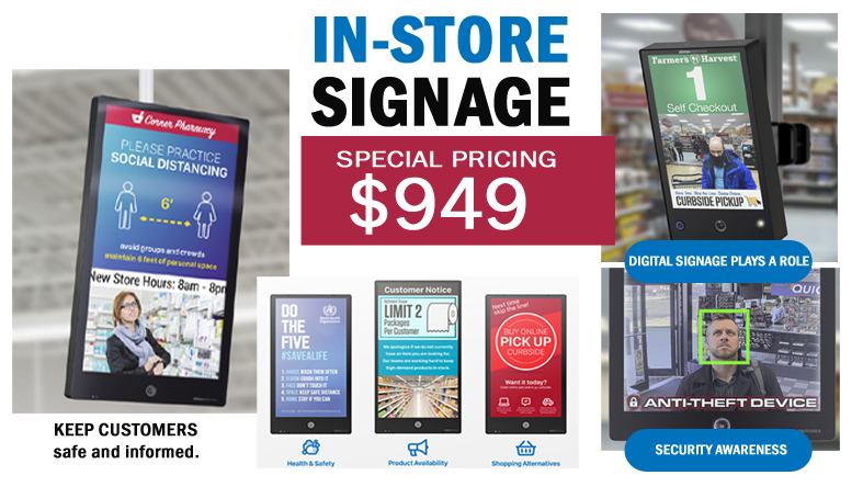 Retail Store Social Distancing and Security Signage